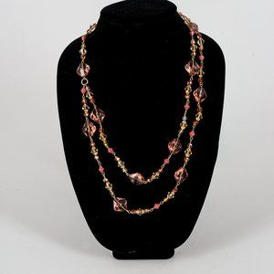 NWOT Lucite double strand necklace